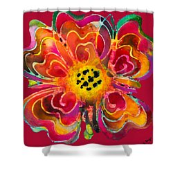 Colorful Flower Art - Summer Love By Sharon Cummings Shower Curtain by Sharon Cummings