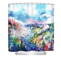 Colorful Forest 5 Shower Curtain