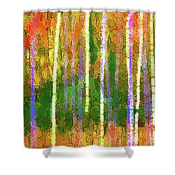 Colorful Forest Abstract Shower Curtain