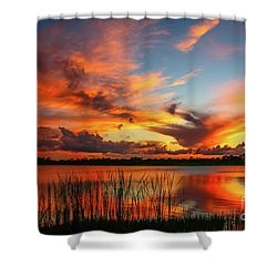 Colorful Fort Pierce Sunset Shower Curtain by Tom Claud