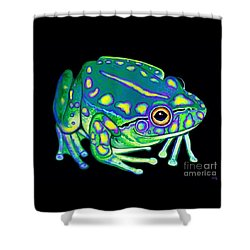 Shower Curtain featuring the painting Colorful Froggy 2 by Nick Gustafson
