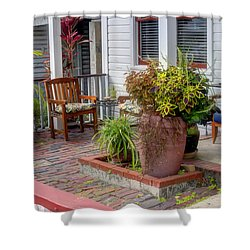 Colorful Front Porch Patio Shower Curtain
