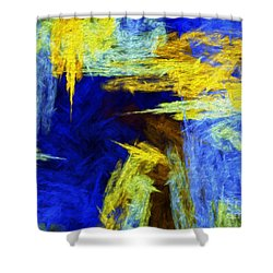 Shower Curtain featuring the digital art Colorful Frost Abstract by Andee Design