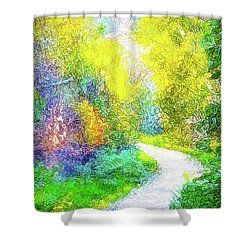 Colorful Garden Pathway - Trail In Santa Monica Mountains Shower Curtain