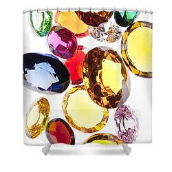 Colorful Gems Shower Curtain by Setsiri Silapasuwanchai