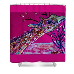Colorful Giraffe Shower Curtain
