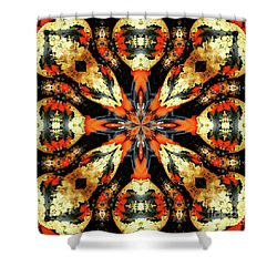 Colorful Gourds Abstract Shower Curtain