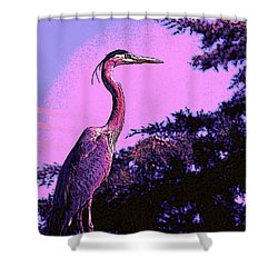 Colorful Heron Shower Curtain