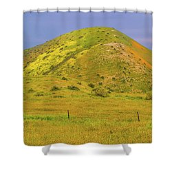 Shower Curtain featuring the photograph Colorful Hill by Marc Crumpler