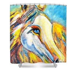 Colorful Horse Sensation Shower Curtain