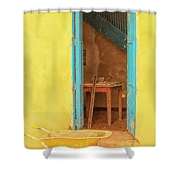Colorful House  Shower Curtain