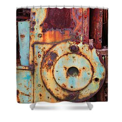 Colorful Industrial Plates Shower Curtain