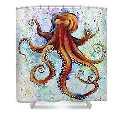 Colorful Ink Shower Curtain by Arleana Holtzmann