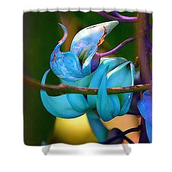 Colorful Jade Blossom Shower Curtain