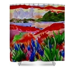 Shower Curtain featuring the painting Colorful by Jamie Frier