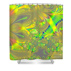 Colorful Jeweled Abstract Shower Curtain