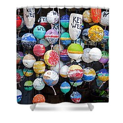 Colorful Key West Lobster Buoys Shower Curtain