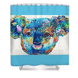 Colorful Koala Bear Art By Sharon Cummings Shower Curtain