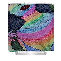Colorful Lady Shower Curtain by Lucy Frost