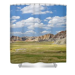 Colorful Landscape In Badlands National Shower Curtain by Philippe Widling