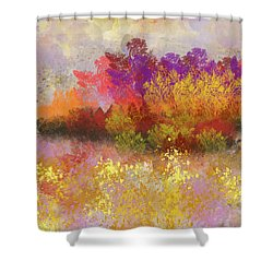 Colorful Landscape Shower Curtain by Jessica Wright