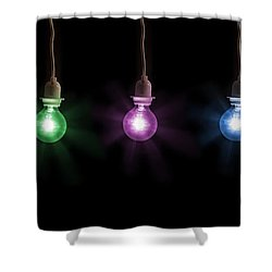 Colorful Light Bulbs Shower Curtain by Sharon Dominick