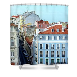 Shower Curtain featuring the photograph Colorful Lisbon by Marion McCristall