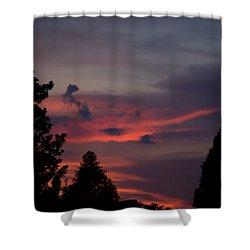 Colorful Mississippi Sky 1 Shower Curtain
