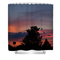 Colorful Mississippi Sky 2 Shower Curtain