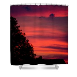 Colorful Mississippi Sky 3 Shower Curtain