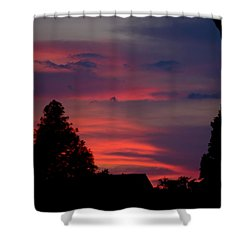 Colorful Mississippi Sky 6 Shower Curtain