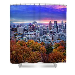 Shower Curtain featuring the photograph Colorful Montreal  by Mircea Costina Photography