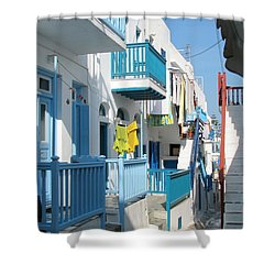 Shower Curtain featuring the photograph Colorful Mykonos by Carla Parris
