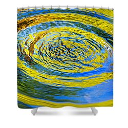 Colorful Nature Abstract Shower Curtain by Christina Rollo