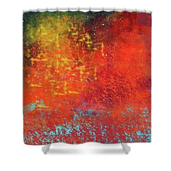 Shower Curtain featuring the painting Colorful Night by Nancy Merkle