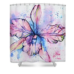 Colorful Orchid Flower Shower Curtain