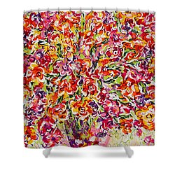 Shower Curtain featuring the painting Colorful Organza by Natalie Holland