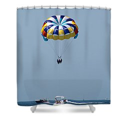 Colorful Parasailing Shower Curtain