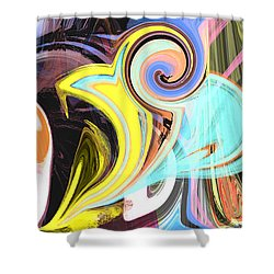 Colorful Pastel Swirls Shower Curtain by Jessica Wright