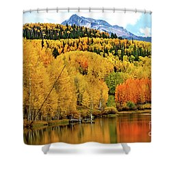 Colorful Peaceful Colorado Shower Curtain