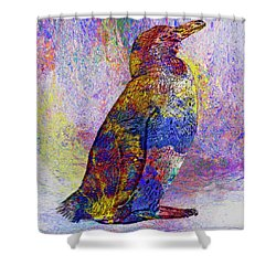 Colorful Penguin Shower Curtain