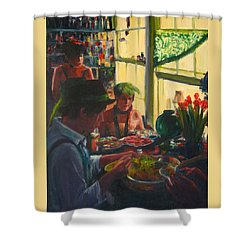 Colorful Preparations Shower Curtain