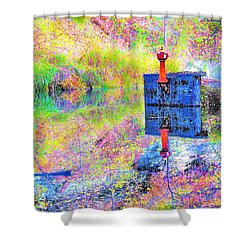 Colorful Reflections Shower Curtain