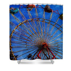 Colorful Ride Shower Curtain