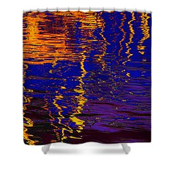 Colorful Ripple Effect Shower Curtain
