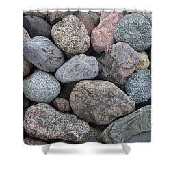 Shower Curtain featuring the photograph Colorful Rocks by Richard Bryce and Family