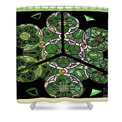 Colorful Rosette In Pink-green Shower Curtain