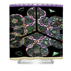 Colorful Rosette In Pink-lila Shower Curtain