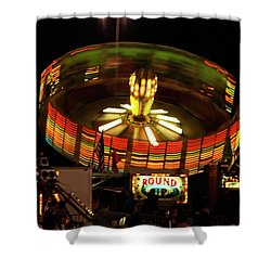 Colorful Round Up Wheel Shower Curtain