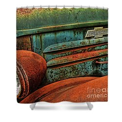 Colorful Rust Shower Curtain